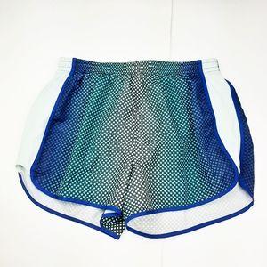 VS Pink Running Shorts Athletic Polka Dot Blue M